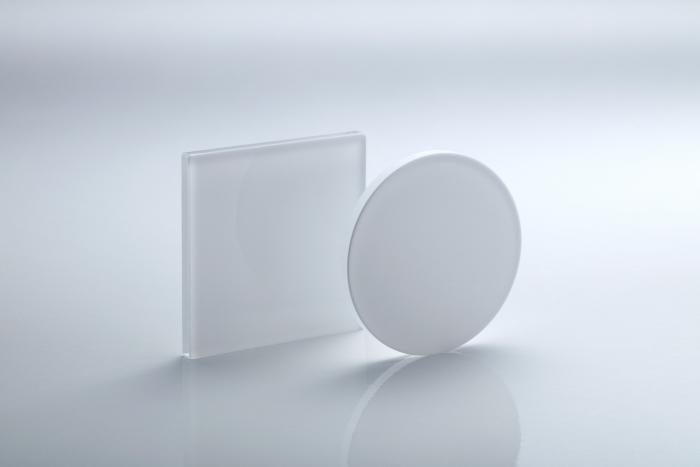 Ground glass diffusers