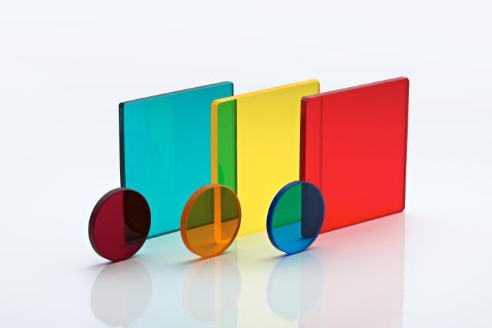570nm Longpass Colour Glass Filter 25mmdia x 3mmthk