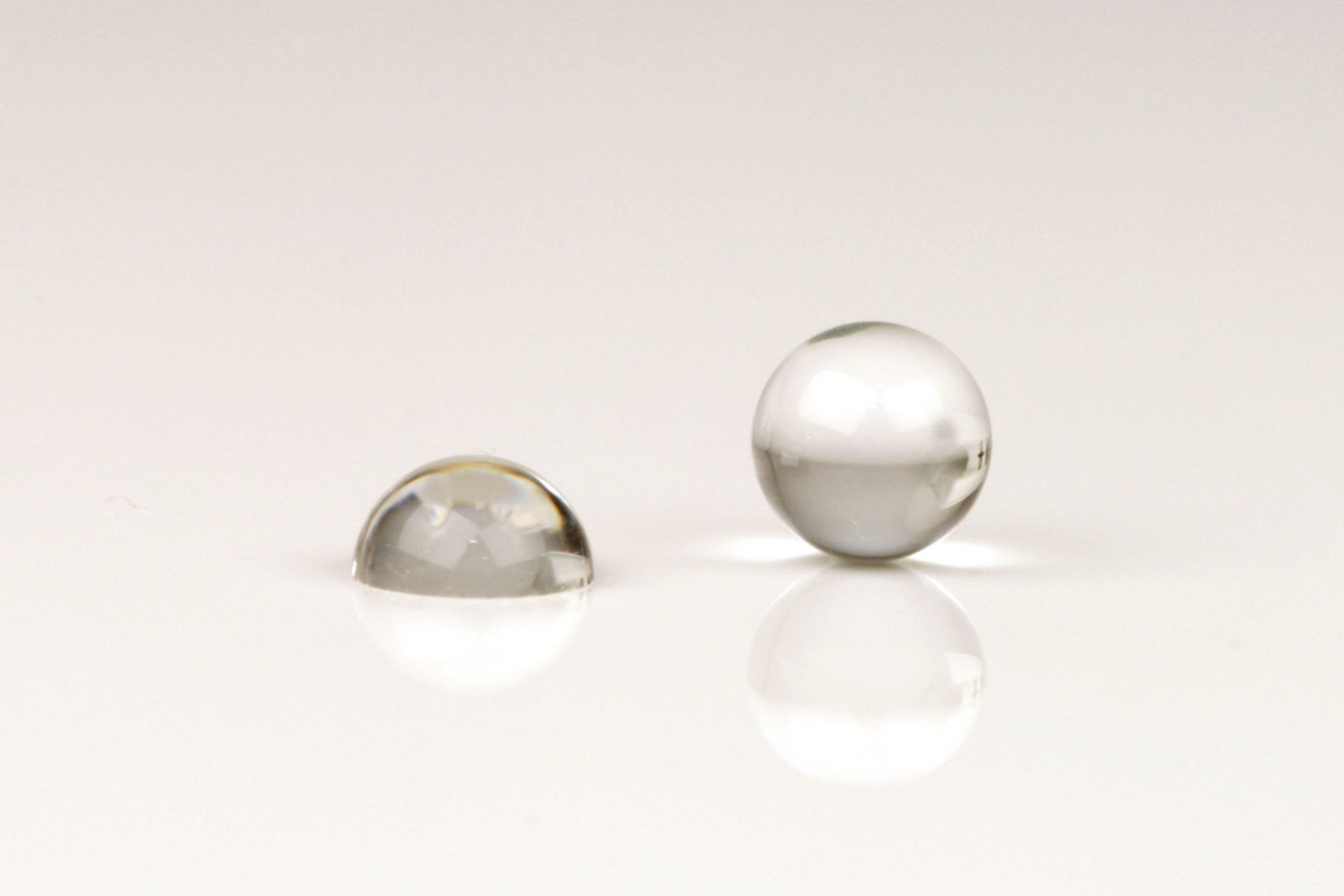 Ball half and full lenses for electronics industry